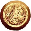1 tremissis Aripert II (avec lettre dans le champ) – avers