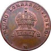 5 centesimi - Franz I – avers