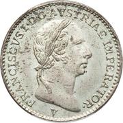 ¼ lire - Franz I – avers
