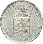 ¼ lire - Franz I – revers