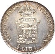 ½ lira - Ferdinand I – revers