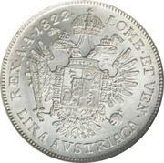 1 lira - Franz I – revers