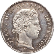 1 lira - Ferdinand I – avers