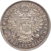 1 lira - Ferdinand I – revers