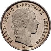 1 lira - Franz Joseph I – avers