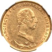 ½ sovrano - Franz I – avers