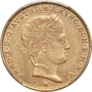 ½ sovrano - Ferdinand I – avers