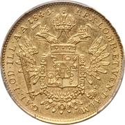 ½ sovrano - Ferdinand I – revers