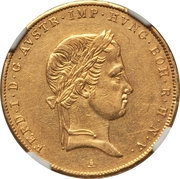 1 sovrano - Ferdinand I – avers
