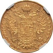 1 sovrano - Ferdinand I – revers