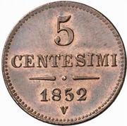 5 centesimi - Franz Joseph I – revers