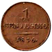 1 centesimo - Ferdinand I – revers