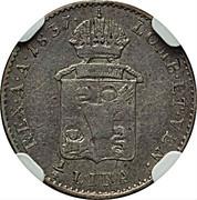 ¼ lira - Ferdinand I – revers