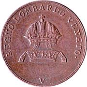 3 centesimi - Ferdinand I – avers