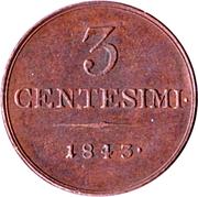 3 centesimi - Ferdinand I – revers