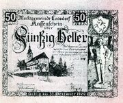50 Heller (Loosdorf; Green reverse) -  avers