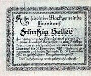 50 Heller (Loosdorf; Green reverse) -  revers