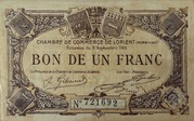 1 franc - Chambre de Commerce de Lorient [56] – avers