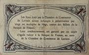 1 franc - Chambre de Commerce de Lorient [56] – revers