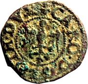Denier Charles III (alérion et épée) – avers