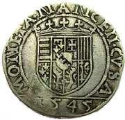 Teston, Francois I 1544-45 – revers