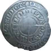 Gros au chevalier Charles II (cotte bandée, ateliers de Nancy et de Sierck) – revers