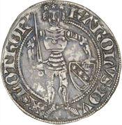 Gros au chevalier et aux alérions Charles II – avers