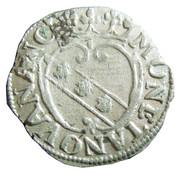 Demi-gros - Charles IV et Nicole – revers