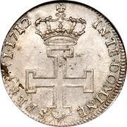 1 teston Leopold Ier (croix au revers) – revers