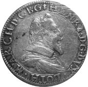 Teston duc henri 1 er (1610-1620) – avers