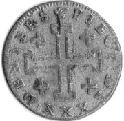 30 deniers François III – revers
