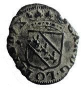 Liard au 2 C enlacés  Charles IV – avers