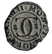 Liard au 2 C enlacés  Charles IV – revers