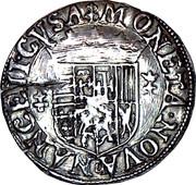 ¼ de teston Charles III (buste vieilli, col plat, non datée) – revers
