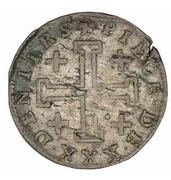 30 deniers Léopold Ier (Croix de Jérusalem) – revers