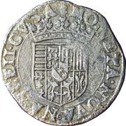 Teston Charles III (buste vieilli, col plat, sans croix de Lorraine couronnée, non datée) – revers