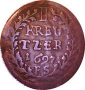 1 kreuzer Maximilian Karl – revers