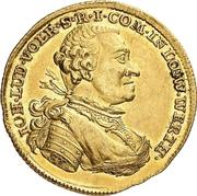 1 Ducat -  Johann Ludwig Vollrath – avers