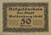 50 Pfennig Waldenburg i. Schl. – avers