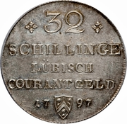 32 Schilling - Franz II – revers