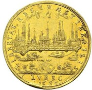 5 ducats Anton Winckler (Frappe essai en or) – revers