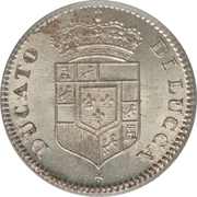 5 soldi - Carlo Ludovico I – avers