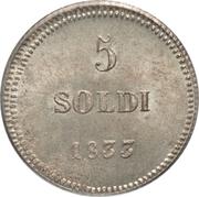 5 soldi - Carlo Ludovico I – revers
