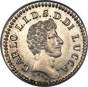 10 soldi - Carlo Ludovico I – avers