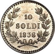 10 soldi - Carlo Ludovico I – revers