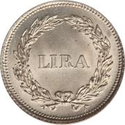 1 lira - Carlo Ludovico I – revers