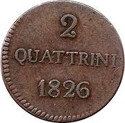 2 quattrini - Lucques – revers