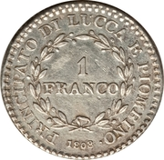 1 franco - Felice – revers