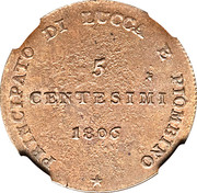 5 centesimi - Felice – revers