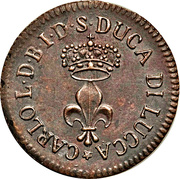 1 soldo - Carlo Ludovico I – avers